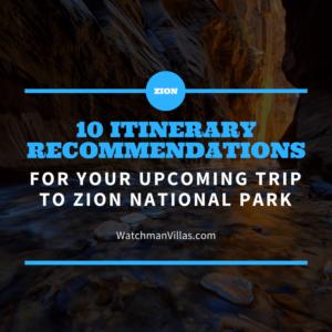 zion itinerary