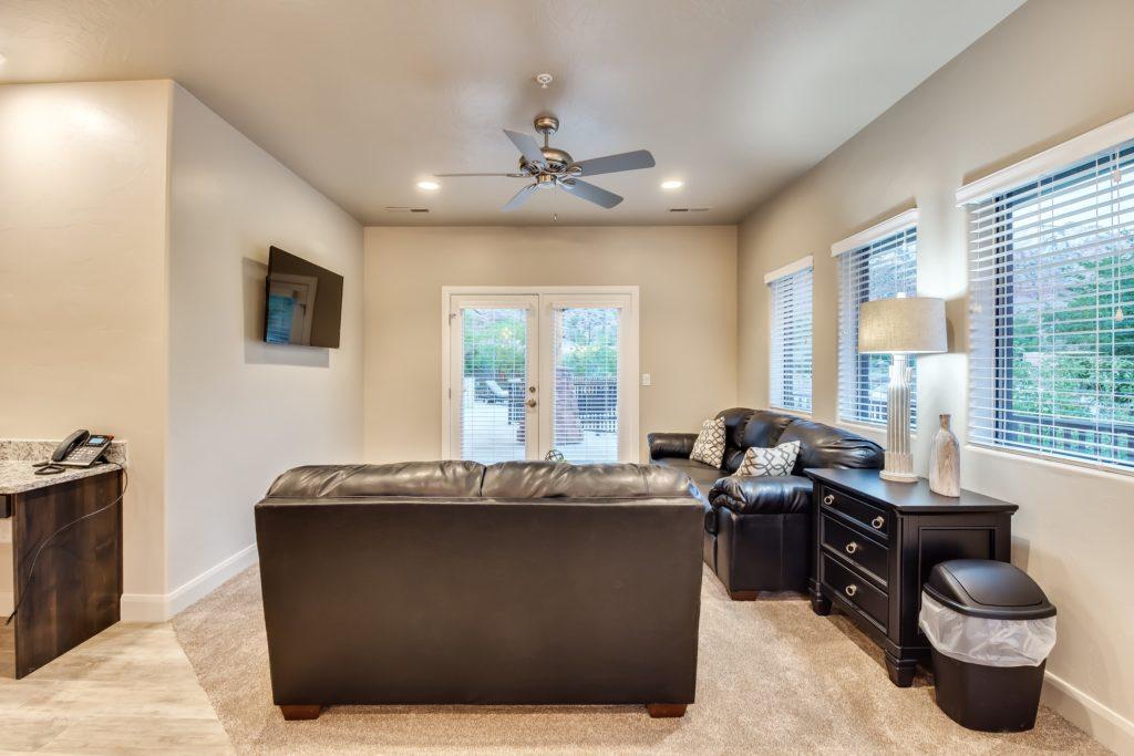 Living room of a watchman villa