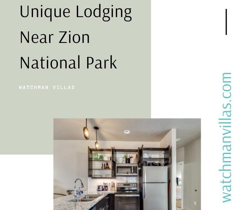 Unique Lodging Near Zion National Park